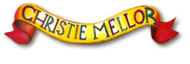 illustrated banner logo and slogan of Christie Mellor