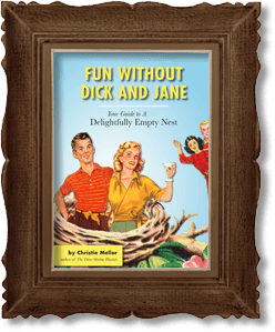 illustrated book Fun Without Dick and Jane encased in a picture frame